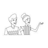 изображение значка пар женщины человека Стоковая Фотография