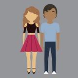 Изображение значка пар человека и женщины иллюстрация вектора