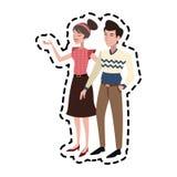 Изображение значка пар человека и женщины Стоковые Изображения RF