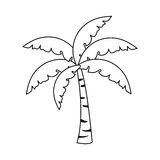 Изображение значка пальмы иллюстрация вектора