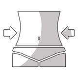 Изображение значка потери веса Стоковое Фото