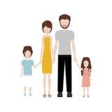 Изображение значка семьи Стоковое фото RF