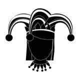 Изображение значка характера арлекина Стоковые Фотографии RF