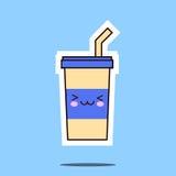 Изображение значка чашки соды Kawaii Стоковые Изображения