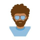 изображение значка человека битника людей Стоковые Фотографии RF