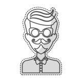 Изображение значка человека битника иллюстрация вектора