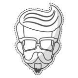 Изображение значка человека битника Стоковое Изображение