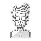 Изображение значка человека битника Стоковые Фото
