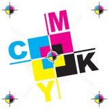 Изображение искусства дизайна писем CMYK иллюстрация штока