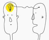 изображение идеи принципиальной схемы 3d представило Находить решение, метод мозгового штурма, творческий думать, символ электрич бесплатная иллюстрация