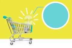 изображение идеи принципиальной схемы 3d представило Новые идеи в торговле Концепция продавать и покупать Идеи дела Стоковое Изображение