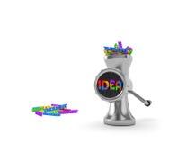 изображение идеи принципиальной схемы 3d представило Стоковые Фотографии RF