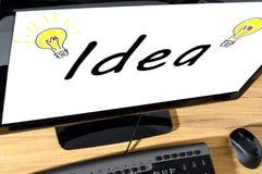 изображение идеи принципиальной схемы 3d представило Стоковое фото RF
