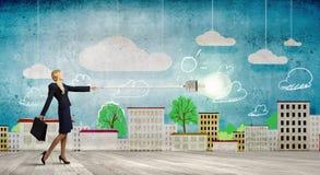 изображение идеи принципиальной схемы 3d представило Стоковая Фотография RF