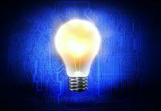 изображение идеи принципиальной схемы 3d представило Стоковое Изображение RF