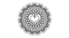 Изображение картины сердец Иллюстрация вектора