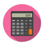 Изображение калькулятора в плоском стиле Стоковая Фотография