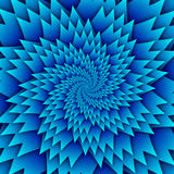 Изображение квадрата предпосылки абстрактной картины мандалы звезды декоративной голубое, картина изображения искусства иллюзии,  иллюстрация вектора