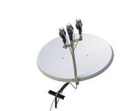 изображение компьютера антенны 3d произведенное тарелкой представляет спутник Стоковое фото RF