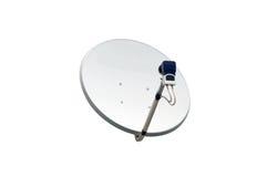 изображение компьютера антенны 3d произведенное тарелкой представляет спутник Стоковые Изображения