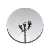 изображение компьютера антенны 3d произведенное тарелкой представляет спутник Стоковое Изображение