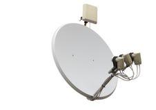 изображение компьютера антенны 3d произведенное тарелкой представляет спутник Стоковые Фотографии RF