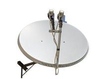 изображение компьютера антенны 3d произведенное тарелкой представляет спутник Стоковая Фотография