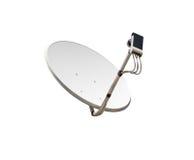 изображение компьютера антенны 3d произведенное тарелкой представляет спутник Стоковые Изображения RF