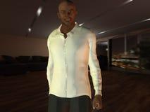 изображение компьютера холодное произведенное смотря человека Стоковое Изображение