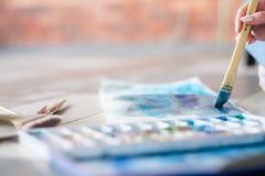 Изображение конспекта выражения притяжки образа жизни искусства стоковое фото
