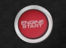 Изображение конца-вверх кнопки старта двигателя стоковые фото