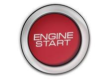 Изображение конца-вверх кнопки старта двигателя Стоковая Фотография
