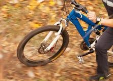 Изображение конца гонщика велосипедиста поднимающее вверх Стоковая Фотография RF