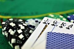 Изображение концепции казино играя в азартные игры, обломоков Стоковое Изображение RF