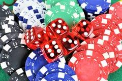 Изображение концепции казино играя в азартные игры, обломоков Стоковая Фотография RF