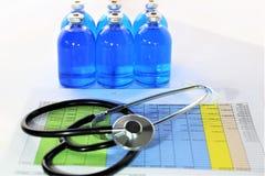 Изображение концепции некоторой бутылки медицины впрыски Стоковые Фото