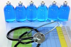 Изображение концепции некоторой бутылки медицины впрыски Стоковое Изображение