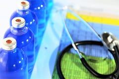 Изображение концепции некоторой бутылки медицины впрыски Стоковое Изображение RF