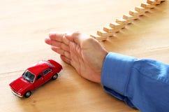 Изображение концепции предохранения от автомобиля страхование и безопасный управлять Стоковое Изображение