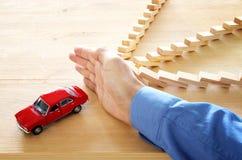 Изображение концепции предохранения от автомобиля страхование и безопасный управлять Стоковое Фото