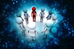 Изображение концепции представляя сеть, сеть, соединение, социальные сети, сообщения, руководителя, концепцию руководства rende 3 Стоковые Изображения RF