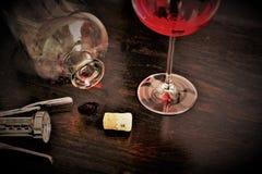 Изображение концепции рюмки, спирта, вина стоковое фото rf