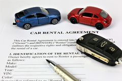 Изображение концепции согласования проката автомобиля стоковые изображения rf
