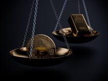 Изображение концепции цены Bitcoin Стоковая Фотография RF