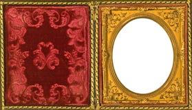 изображение красивейшей рамки daguerreotype богато украшенный Стоковое Фото