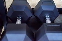 Изображение крупного плана гантелей хрома Стоковая Фотография