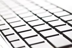 Изображение крупного плана самомоднейшей клавиатуры компьютера типа Стоковая Фотография