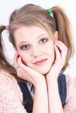 Изображение крупного плана молодой женщины Стоковые Фотографии RF