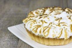 Изображение крупного плана пирога лимона Стоковые Фотографии RF