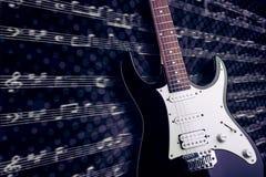 Изображение крупного плана электрической гитары Стоковые Фото